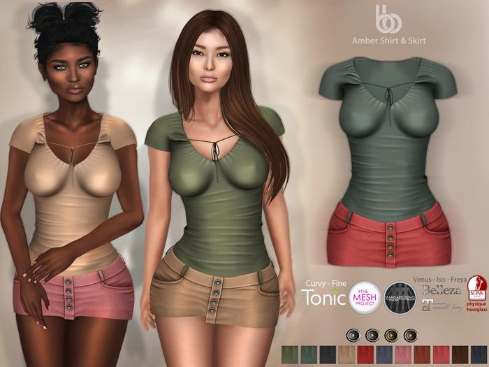 Bens Boutique - Amber Shirt & Skirt - Hud Driven Maitreya,Slink(all),Belleza(all)