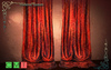 [MF] Mesh long draped red silk curtains (boxed)