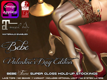 Bebe Stockings Fiore Valentine's Day w/ BOM & Materials