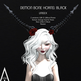 .AiShA. Demon Bone Horns Black