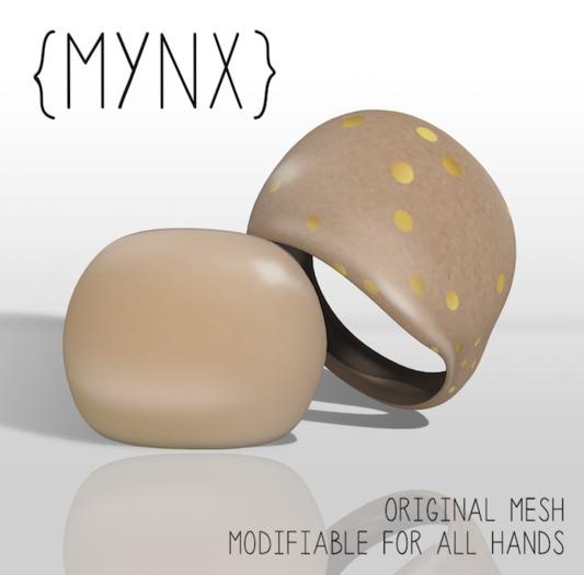 {MYNX} Resin Rings - Beige Sparkles