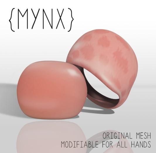 {MYNX} Resin Rings - Peach Leopard