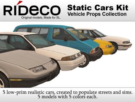 RiDECO - Static Cars Kit