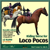 Horse Rideable for Loco Poco by Timmi Allen