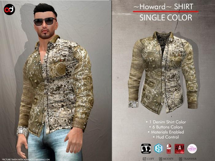 A&D Clothing - Shirt -Howard- Sand
