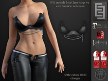 Elven Elder Fit mesh leather top v1 with HUD Maitreya Slink Belleza EVE