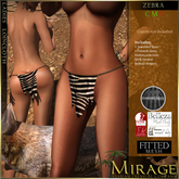 =Mirage= Ladies Loincloth - Zebra