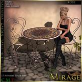 =Mirage= Valentina Garden Table Set - Rose