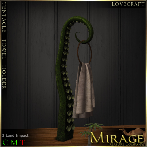 =Mirage= Tentacle Towel Holder (Lovecraft Edition)