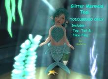 {HCM} Glitter Mermaid Teal
