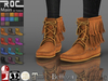 ::ROC:: Suede Fringed Boots