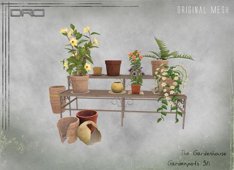 -DRD- Garden House - Garden Pots