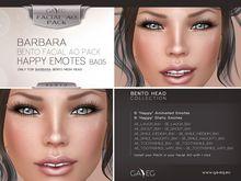 [GA.EG] Barbara Bento Facial AO Pack - BA05 Happy Emotes