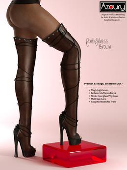 AZOURY - Faithfulness  thigh-high boots [Brown]