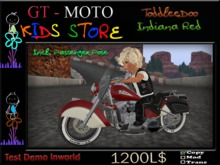 GT - MOTO Kids Indiana Sidecar Red ToddleDoo (BOX)