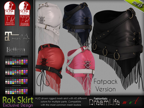 Rok Fatpack Gothic Mini Female Skirt - Maitreya Lara, Slink Physique Hourglass, Belleza - DreamLife - FashionNatic