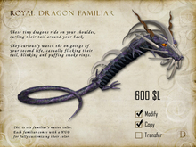 Royal Dragon Familiar - Shoulder Pet