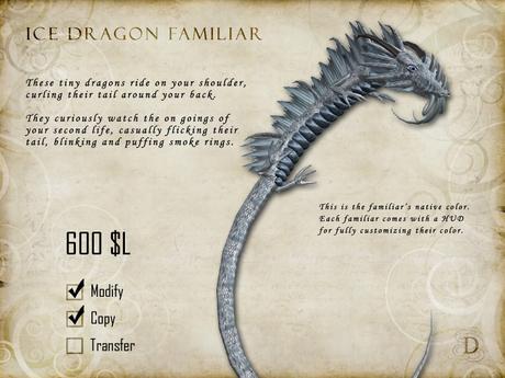 Ice Dragon Familiar - Shoulder Pet