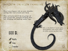 Shadow Dragon Familiar - Shoulder Pet