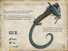 Aquatic Dragon Familiar - Shoulder Pet