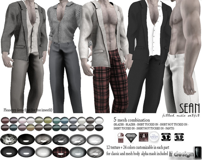 [lf design] Sean outfit Demo