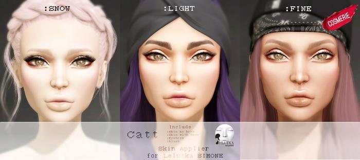 DEMO :cosmerie: Catt_Skin APP for Lelutka SIMONE