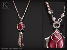 (Kunglers) Adele necklace - Pink quartz