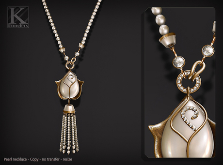 (Kunglers) Adele necklace - Pearl