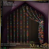 =Mirage= Beaded Curtain - Colors