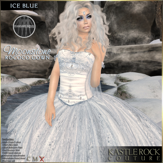 :KR: Moonstone Gown - Ice Blue