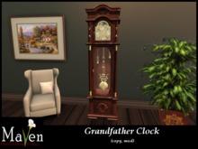 Maven's Grandfather Clock - Replica Clock With Hands & Pendulum