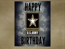 Happy Birthday To A Special Person In The Army