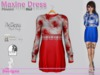 Maxine Dress Flowers Red