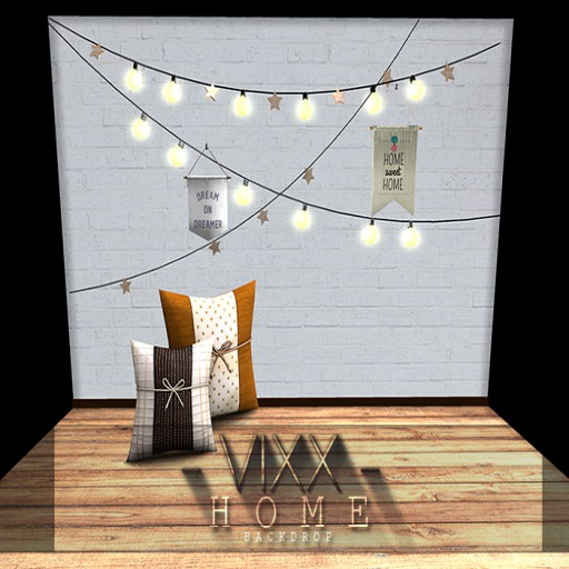 -VIXX- Mesh backdrop - HOME