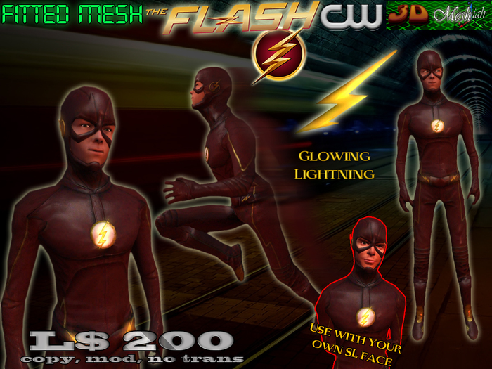 [Flash CW] Fitted mesh avatar w/ detachable face to use w/ your own SL face