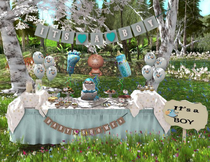 Aphrodite Its a boy Baby shower complete set