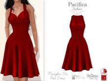 Pacifica Fashion – Marylin Red 50s Dress (Belleza, Maitreya, Slink)