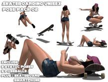 -Aeon-Skateboarding Pose Pack 02 Tricks Unisex xtreme Game bento animation pose poses static