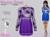 Maxine Dress Flowers Purple