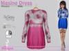 Maxine Dress Flowers Pink