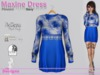 Maxine Dress Flowers Navy