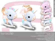 Sweet Baby - Rocking Unicorn 4 Colors Mesh