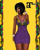 XK Maitreya Mardi Gras Corset Dress Purple