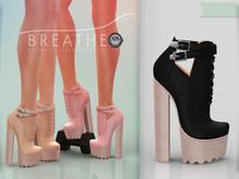 [BREATHE]-Ariana Heels-Black-(for Slink High Feet & Maitreya Lara & Belleza)