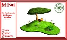 St. Patrick's day Mushroom meadow