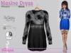 Maxine Dress Flowers Black