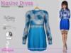 Maxine Dress Flowers Blue