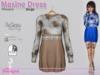 Maxine Dress Flowers Beige