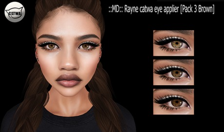 ::MD:: Rayne catwa eye applier [Pack 3 Browns]