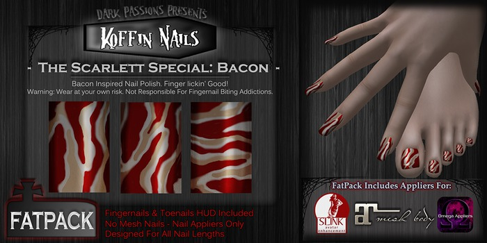 DP - Koffin Nails - FatPack - Scarlett Special: Bacon